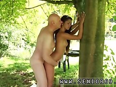 old man cums in young pussy vivien meets hugo in the park and cant fight back him
