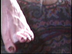 Two horny dykes explore foot fetish