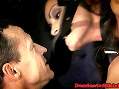 caged slave anally banged and facialized