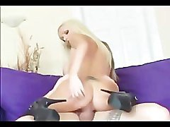 milf with big tits fucked in black stockings and high heels