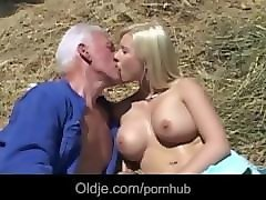 old farmer joe fucks hard a busty young blonde