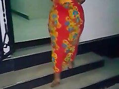 jiggly african bbw pear walking