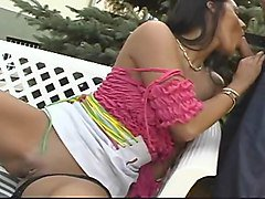 dp hungarian brunette fucked hard in the sun