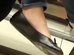 my asian friend's candid feet in flats(no shoeplay)