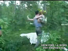 Wonderful Orgy With Shy Red-haired Girl In The Middle Of A Forest