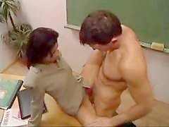 Tight Teacher Nailed In The Classroom