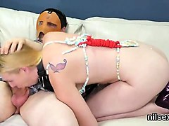 Cheating wife gets facial