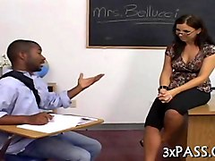 hot white teacher fucked by a black student doggy style