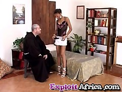 EXploited African teen harsh cam sex
