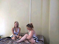 horny teen sister having threesome fun with d