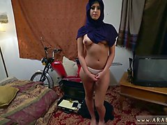 arab babe shows her perky boobs and that tight pussy